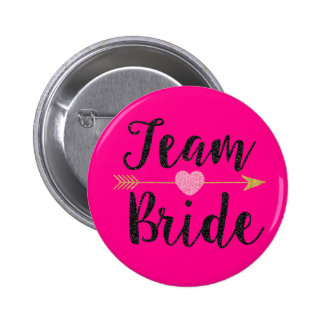 Het Roze van het team Bride|Hot Ronde Button 5,7 Cm