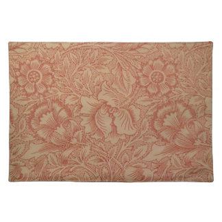 Het Roze van William Morris en het TextielPatroon Placemat