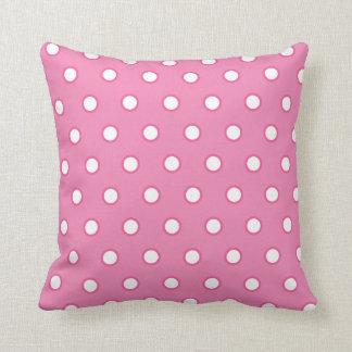 Het roze Vierkante Hoofdkussen van de Stip Sierkussen