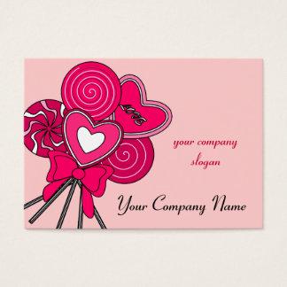 Het roze Visitekaartje van de Bakkerij van de Visitekaartjes