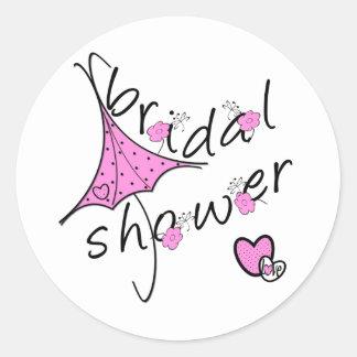 Het roze Vrijgezellenfeest van de Paraplu Ronde Stickers
