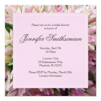 Het roze Vrijgezellenfeest van het Boeket nodigt 13,3x13,3 Vierkante Uitnodiging Kaart