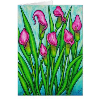 Het roze Wenskaart van Dames