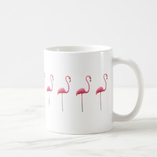 Het roze Wit van de Mok van de Flamingo