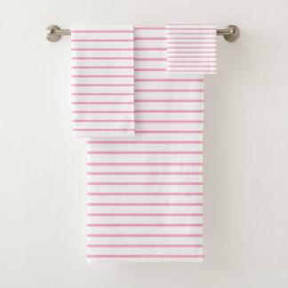 Het roze Wit van Lijnen Bad Handdoek