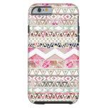 Het Roze Witte Bloemen Abstracte Azteekse Patroon Tough iPhone 6 Case