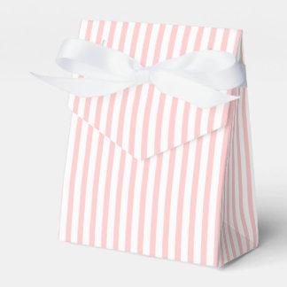 Het roze, witte gestreepte huwelijk van de bedank doosje huwelijk