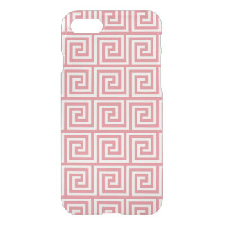 Het Roze Witte Griekse Zeer belangrijke Patroon iPhone 7 Hoesje