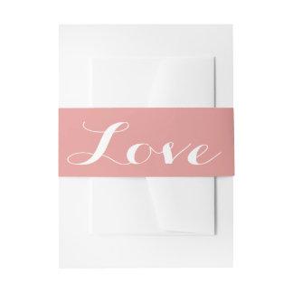 Het roze & Witte Huwelijk van de Liefde Uitnodigingen Wikkel