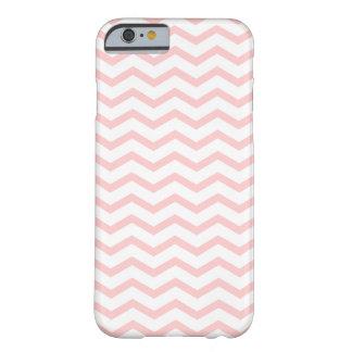 Het roze Witte Patroon Girly van de Chevron van de Barely There iPhone 6 Hoesje