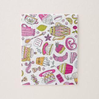 Het roze Woestijn en Patroon van Snoepjes Puzzel