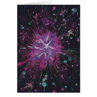 Het roze Zwarte Acryl Schilderen van de Abstracte Kaart