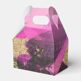 Het roze Zwarte Goud schittert Moderne Borstel Bedankdoosjes