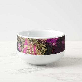 Het roze Zwarte Goud schittert Moderne Borstel Soepkom