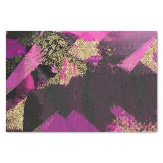 Het roze Zwarte Goud schittert Moderne Borstel Tissuepapier