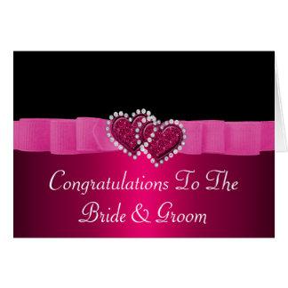Het roze & Zwarte Huwelijk van de Harten van het Kaart