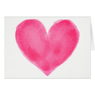 Het Rozerode Hart van de waterverf - de Liefde van Kaart
