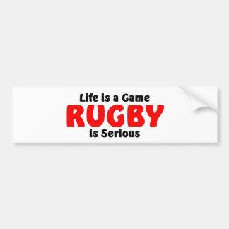 Het rugby is ernstig bumpersticker