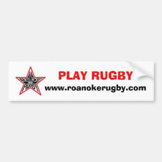 Het Rugby Ziekere Bumber van het spel Bumpersticker