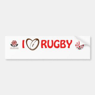 het rugbySticker van Georgië Bumpersticker