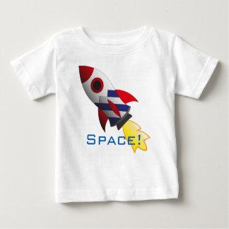 Het ruimte overhemd van het raketbaby baby t shirts