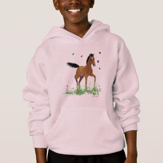 Het RuiterSweatshirt Met een kap van het veulen en