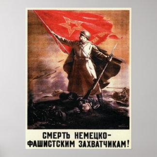 Het Russische Poster van de Propaganda van WO.II