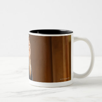 Het Rusten van de Schermer van Kendo Tweekleurige Koffiemok