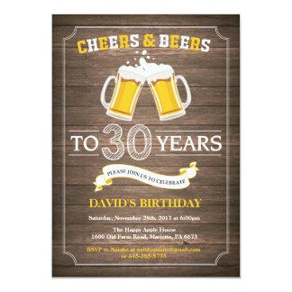Het rustieke Bier verrast de 30ste Uitnodiging van