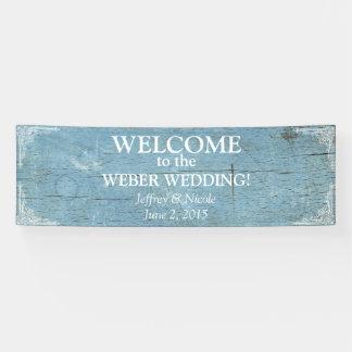 Het rustieke Blauwe Houten Huwelijk met bloeit