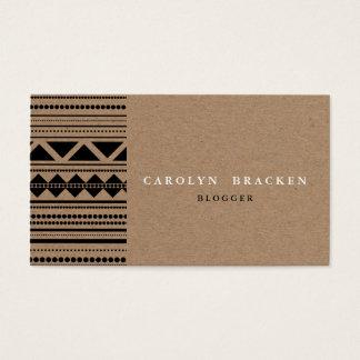Het rustieke Bruine Patroon van het Document van Visitekaartjes