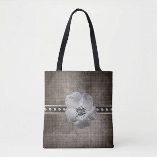 Het rustieke Canvas tas van de Bloem van de Plaid