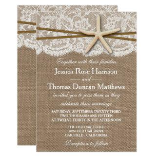 Het rustieke Collectie van het Huwelijk van het 12,7x17,8 Uitnodiging Kaart
