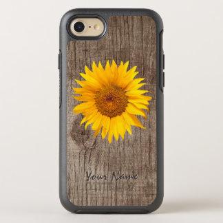 Het rustieke Hout van de Schuur van de Zonnebloem OtterBox Symmetry iPhone 8/7 Hoesje
