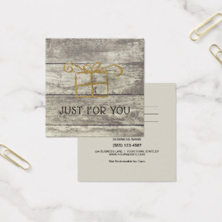 Het rustieke Houten Gouden Certificaat van de Vierkante Visitekaartjes