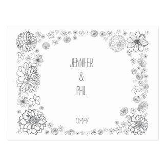 Het rustieke Huwelijk bewaart de datumkaart Briefkaart