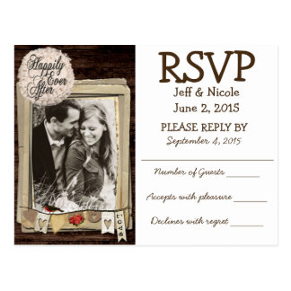 Het rustieke Huwelijk RSVP van het Land van de Briefkaart