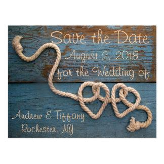 Het rustieke Huwelijk van de Kabel van het Hart Briefkaart