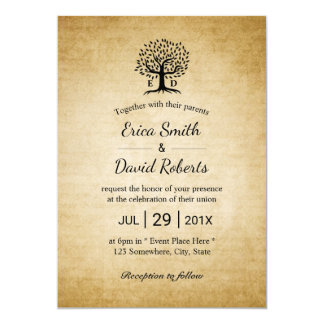 Het Rustieke Huwelijk van de vintage Initialen van 12,7x17,8 Uitnodiging Kaart