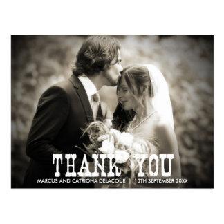 Het rustieke Huwelijk van het Land dankt u Briefkaart