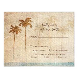 Het rustieke Huwelijk van het Strand van Palmen Kaart