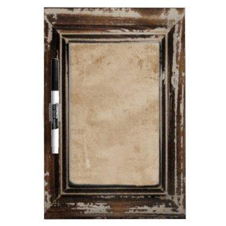 Het Rustieke Lijst van Cusomizable Whiteboard