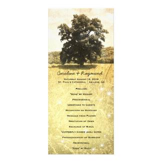 Het rustieke Programma van het Huwelijk van de 10,2x 22,9 Cm Reclamekaart
