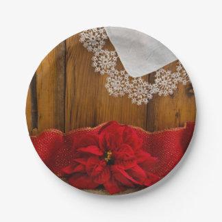 Het rustieke Rode Huwelijk van de Winter van het Papieren Bordjes