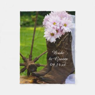 Het rustieke Roze Huwelijk van Madeliefjes en van Fleece Deken