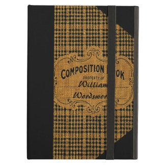 Het rustieke Vintage Boek van de Samenstelling iPad Air Hoesje