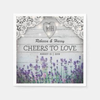 Het rustieke Vintage Huwelijk van de Lavendel Papieren Servetten