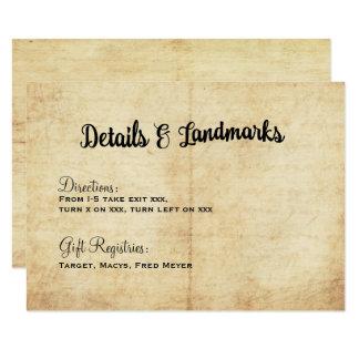 Het rustieke Vintage Huwelijk van het Avontuur 8,9x12,7 Uitnodiging Kaart