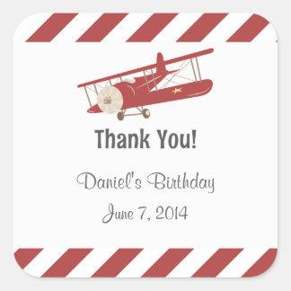 Het rustieke Vliegtuig dankt u Stickers