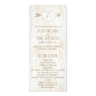 Het rustieke Woodgrain Programma van het Huwelijk